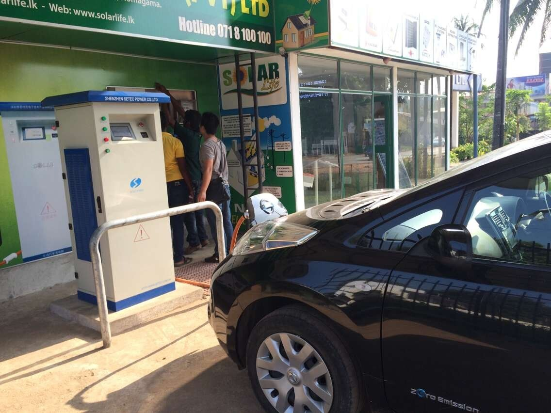 Large Battery Capacity Electric Bus 120kw DC Fast Charging Station with SAE Chademo Connector