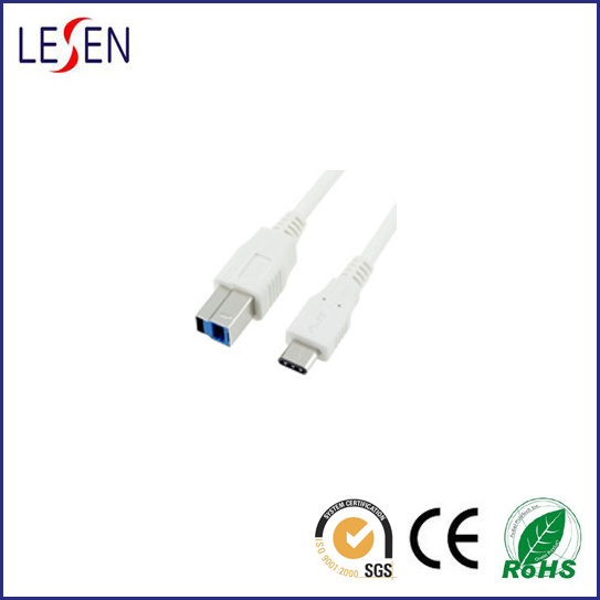 USB 3.1 C Type to USB 3.0 B Type Male Printer Cable