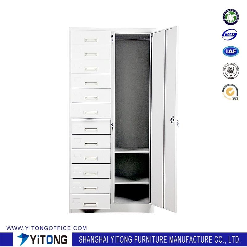 1-Door 12-Drawer Metal Storage Cabinet / Office Use Steel File Cabinet