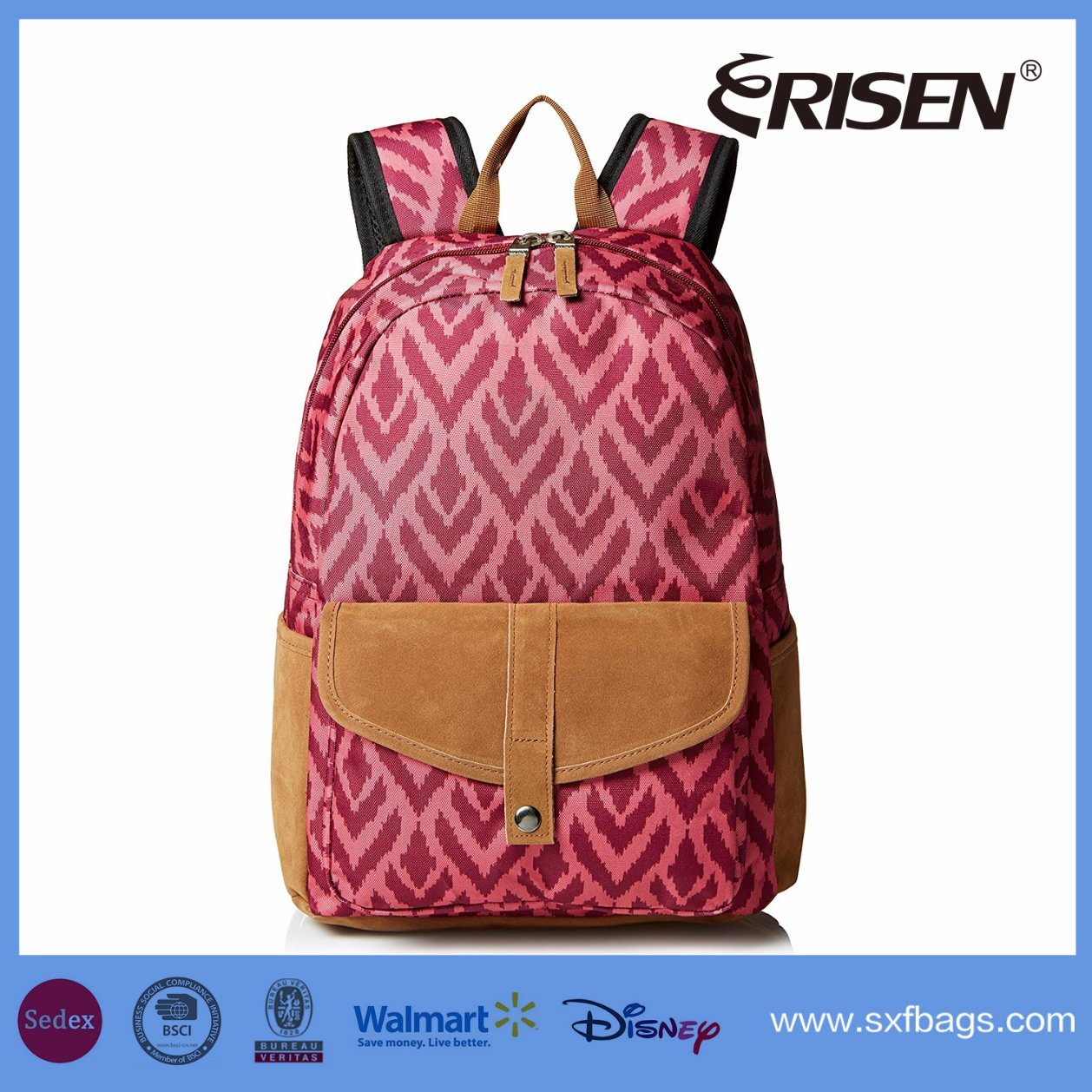 China Wholesale Junior′s Caribbean Polyester School Backpack