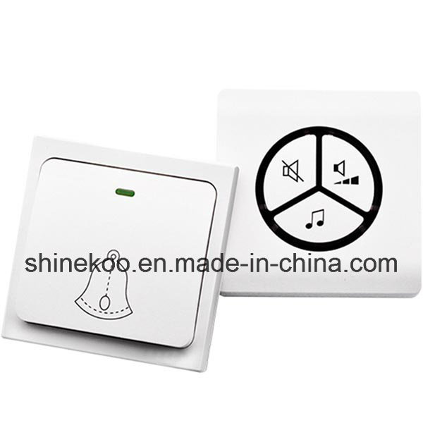 Self-Powered Battery-Less Wireless Chime with Plug (SN800SW-BE)