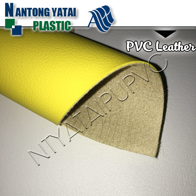 PVC Breathable Synthetic Leather for Sofa with Litchi Stria