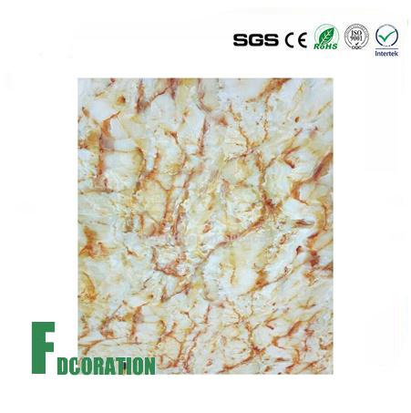 Building Materials PVC Marble Texture Shower Walls Panels