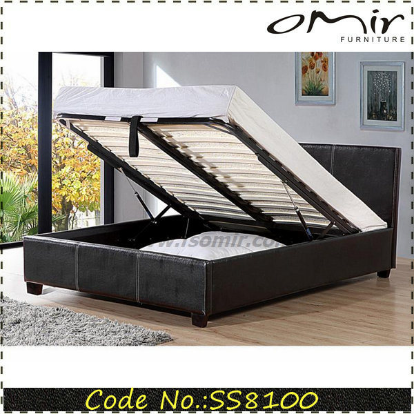 Lift up Storgae PU Leather Bed Frame for Bedroom
