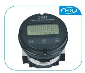 Aluminum Oval Gear Flow Meter with Electronic Register