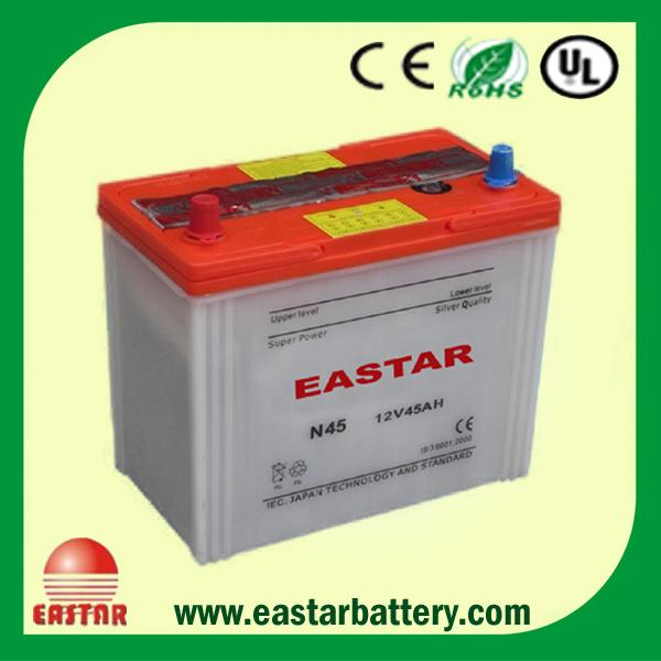 High Quality New Designeastar Lead Acid Dry Car Battery Ns60 / N45 (12V 45ah) Japan Standard