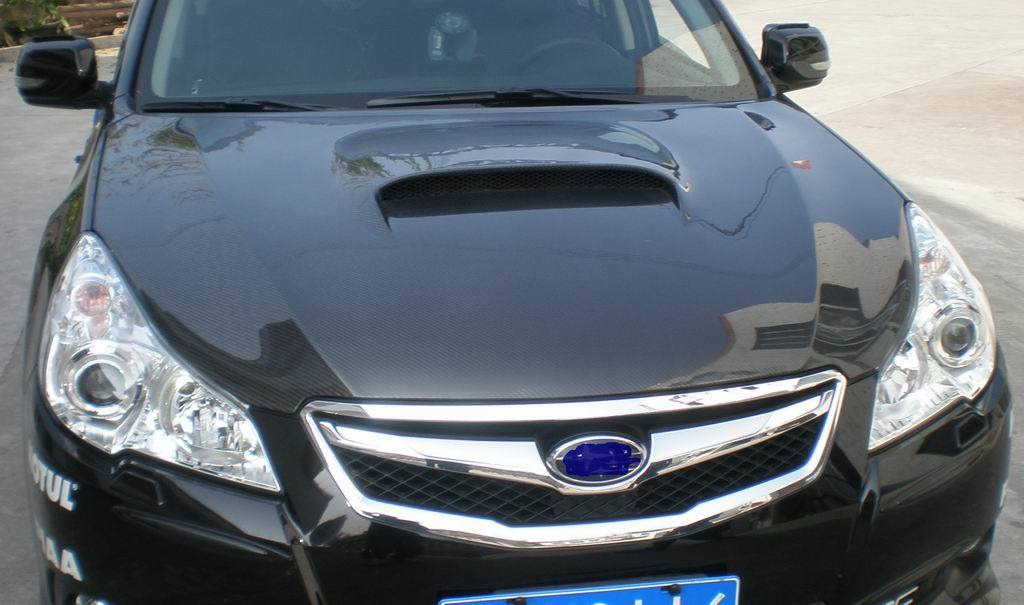 how to open the bonnet of a subaru outback