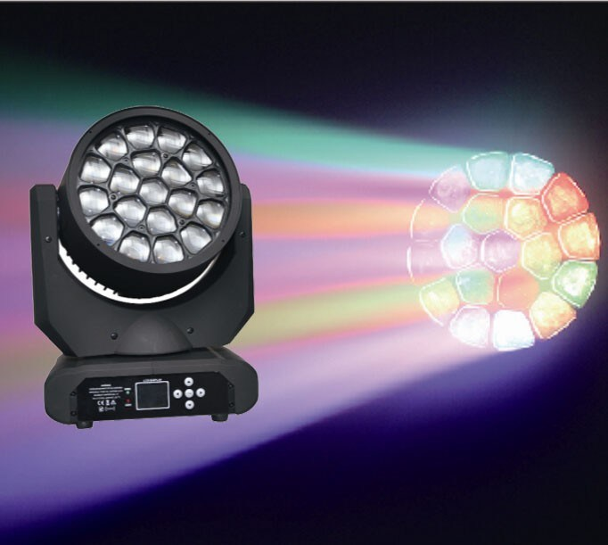 Competitive Price 19PCS 12W RGBW 4in1 LED Bee Light