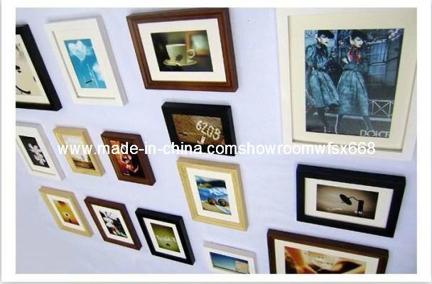 Kader van de foto van de decoratie van de muur het hangende houten het kader van de foto van - Foto decoratie ...