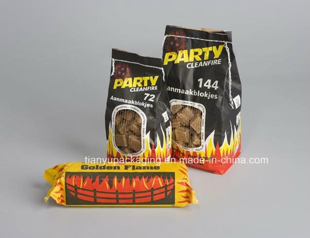 Flat Bottom Kraft Paper Bag for Vegetables Packaging