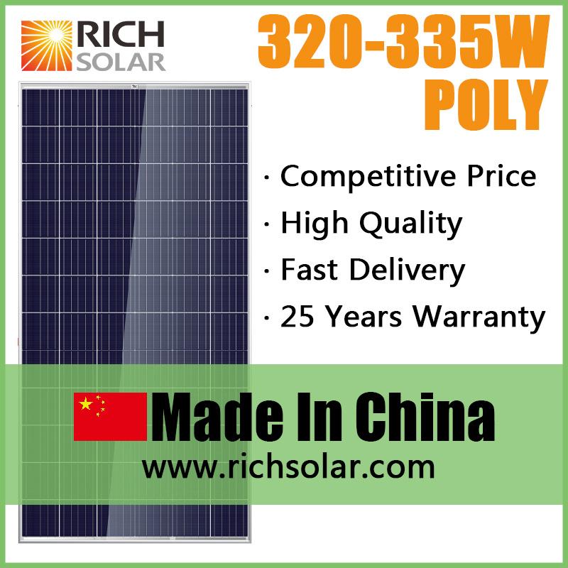 330W High Quality Efficiency Polycrystalline Photovoltaic Solar Module