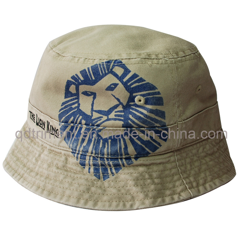 Heavy Washed Screen Print Embroidery Fishing Bucket Hat (TMBH1989)