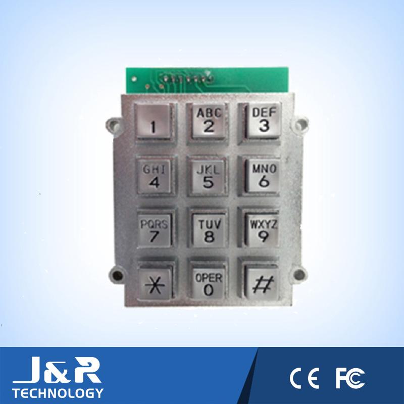 Bulgy Square Phone Keyboard with 12 Keys, Armored Phone Keyboard