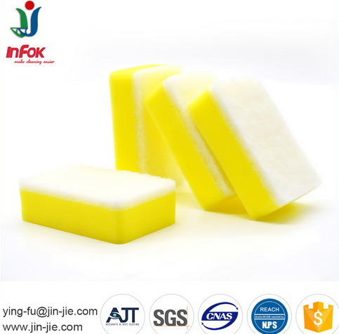 Color Kitchen Usage Cleaning Sponge Scourer