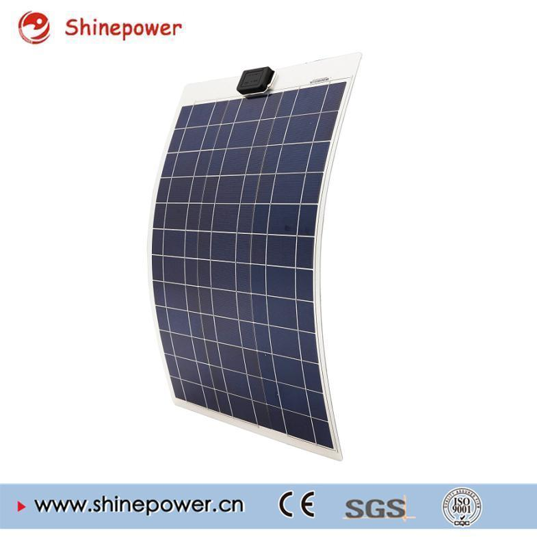 50 Watts 12 Volts Flexible Solar Panel for RV Boat