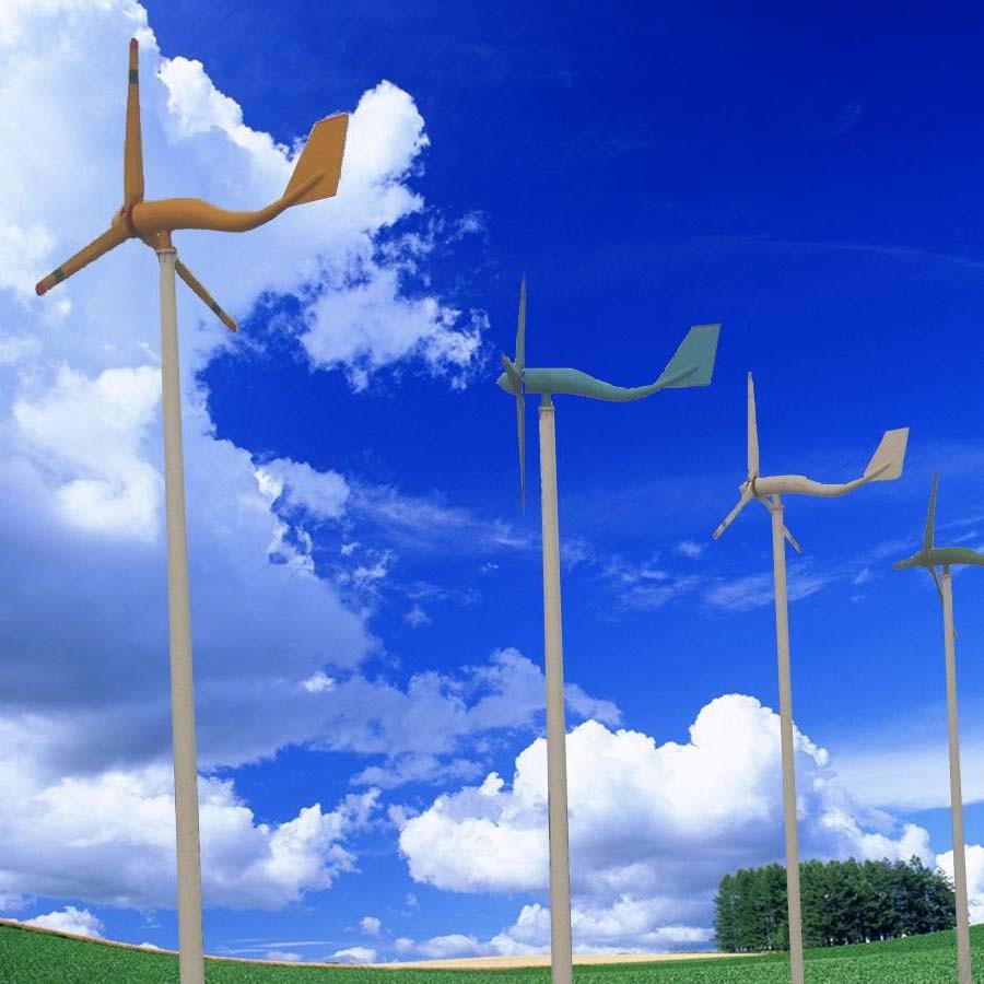 2.2 m diameter PVC made wind turbine (Alternator and tail) - YouTube