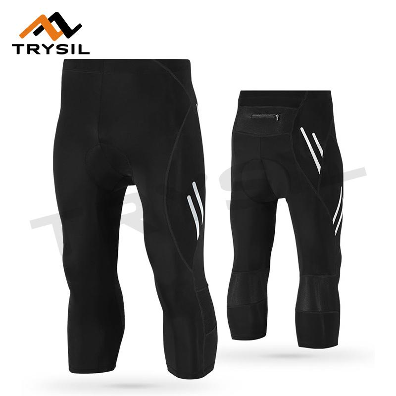 Men Cycling Pants Capri Legging Quick Dry Cycling Clothing