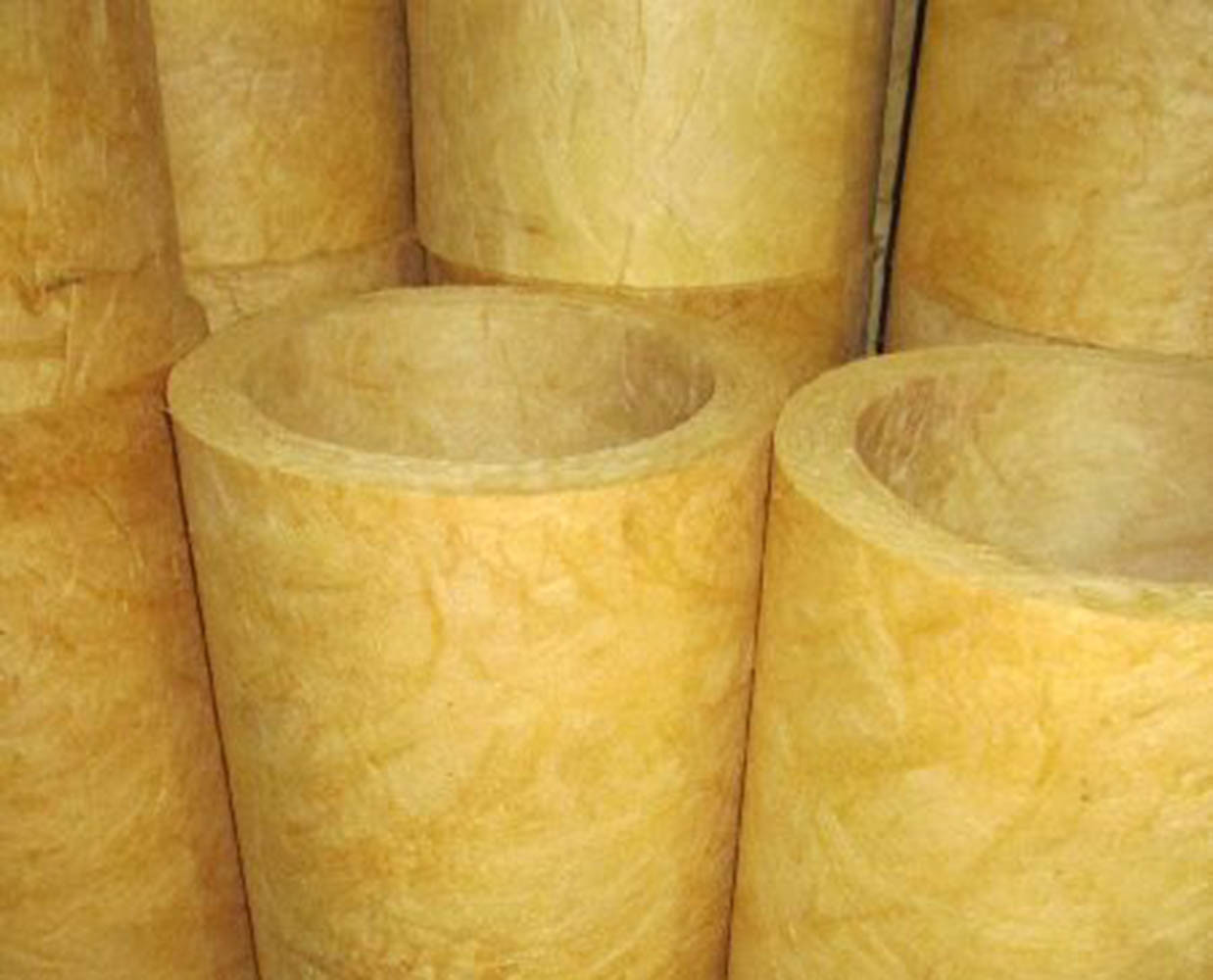 Fiberglass Heat Fiber Glass Wool Pipe Insulation Material