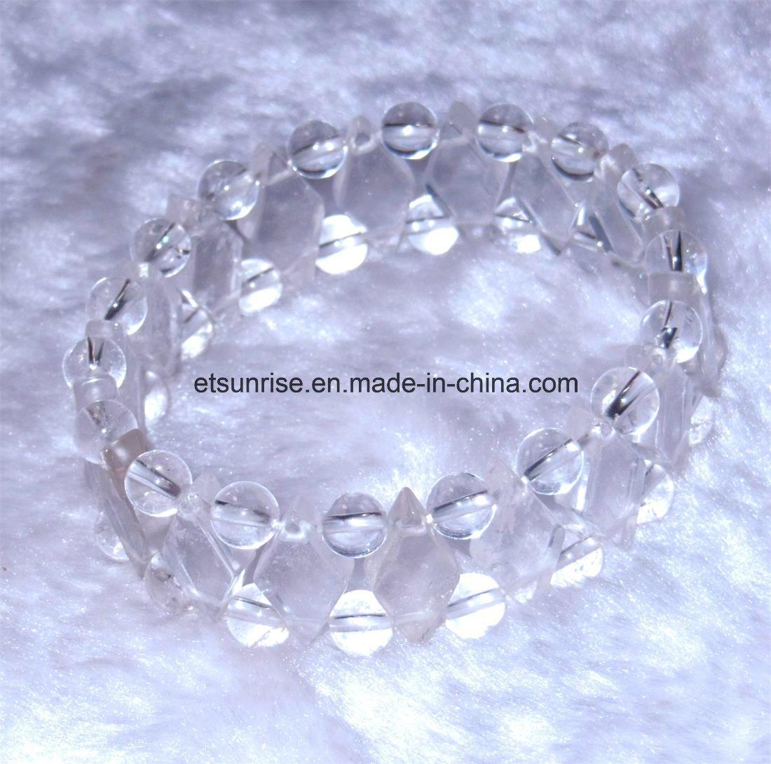 Semi Precious Stone Natural Crystal Amethyst Gemstone Chakra Diamond Bracelet