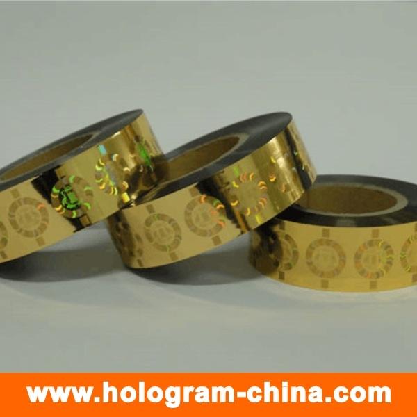 Gold Laser Roll Hologram Hot Foil Stamping