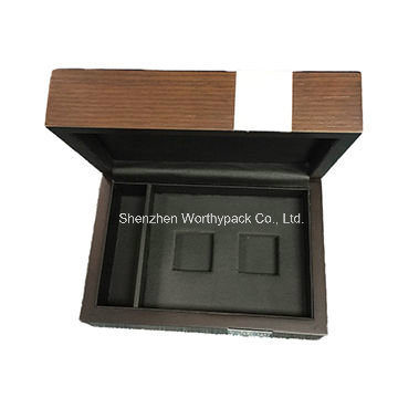 Wooden Gift Box with Hinged Lid for Jewelry/Watch/Tea