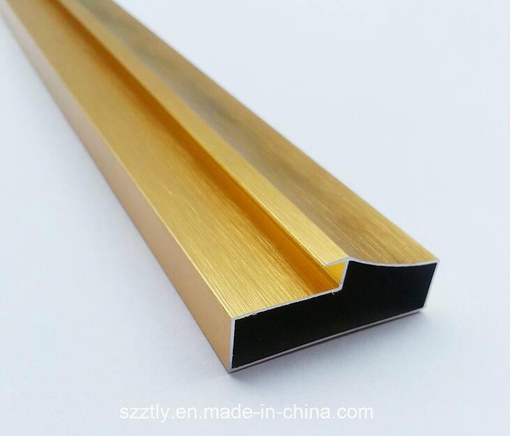 6063t5 Bright Polished Anodised Aluminium/Aluminum Extrusion