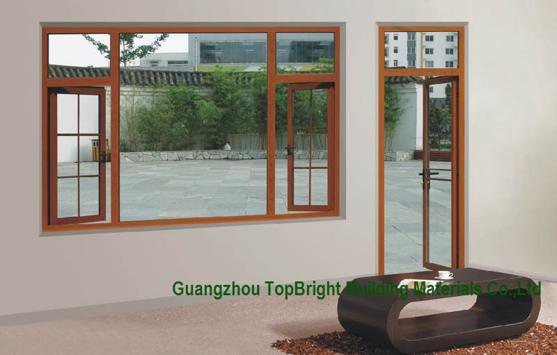 Latest Design Aluminum Wood Windows (CL-W2001)