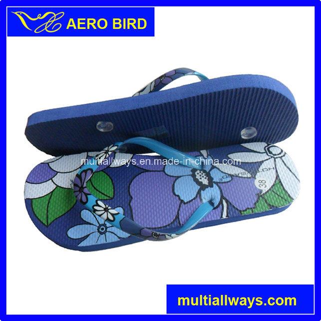 Wholesale PE Fashion Flip Flop Slipper for Girl (15H006)