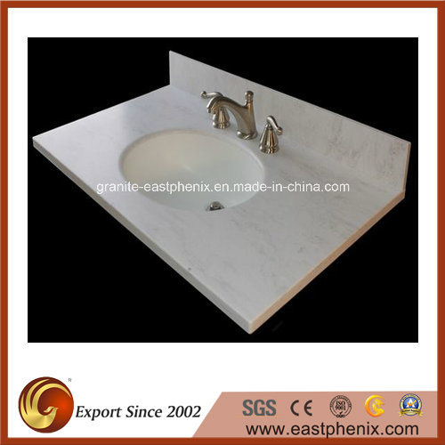 White/Black/Green/Blue/Beige Quartz/Marble/Granite Vanity Top for Kitchen/Bathroom/Hotel