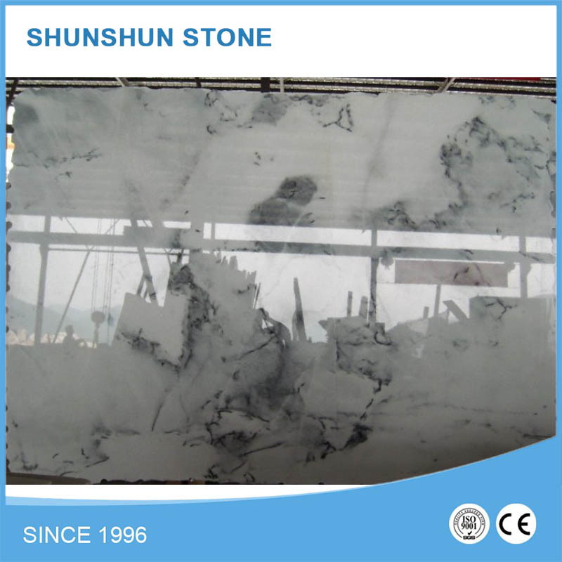 White China Jade Landscape Marble Slabs for Wall and Floooring