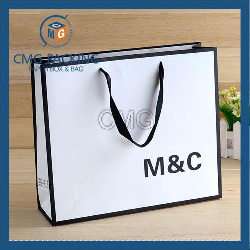 Orange Color with Black Border Paper Gift Bag (DM-GPBB-069)