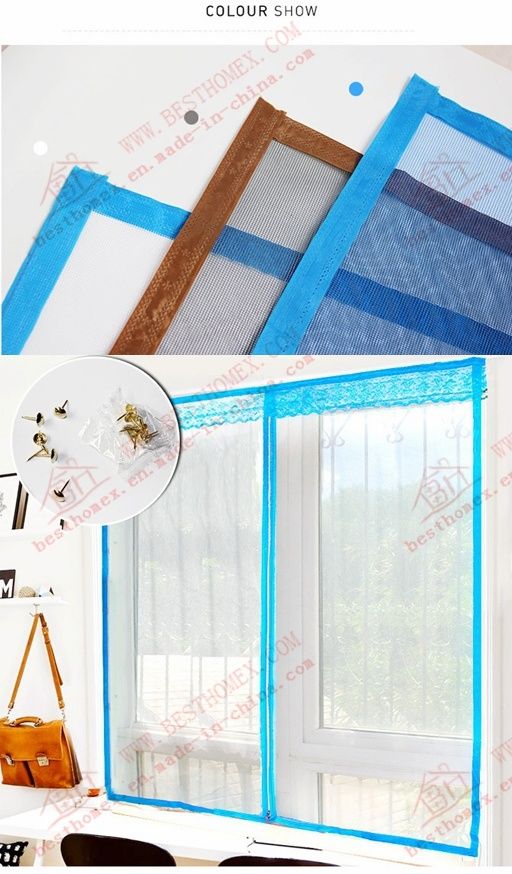 DIY Magnetic Mosquito Screen for Windows and Doors (BHN-M04)