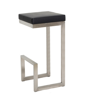 Stainless Steel Fixed Hanging on Table Top Bar Stool