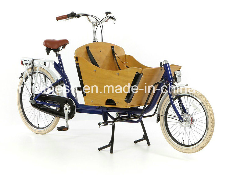 Pedal or 250welectric Two Wheels Delivery Bicycle/Cargo Bike or Box Bike for Family/2 Wheel Bicycles for Two Kids/ 2 Wheel Bakfiets