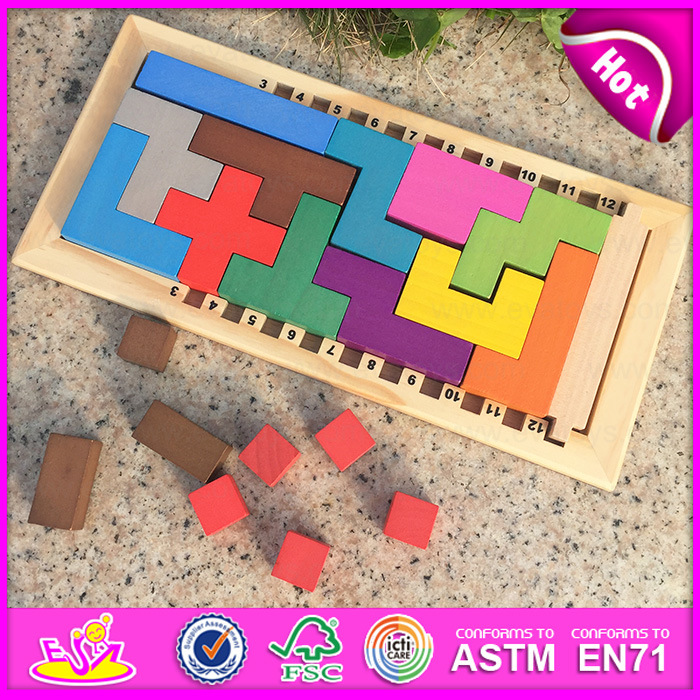 2016 Newest Children Wooden Puzzle Board Game, Intelligence Wooden Puzzle Board Game, Fashion Wooden Puzzle Board Game W11A042