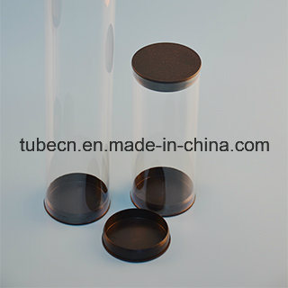 Transparent Plastic Tube with Caps for Packaging