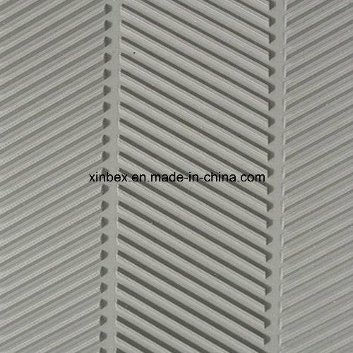 PVC Grey Fishbone Pattern Conveyor Belts for Wood Process