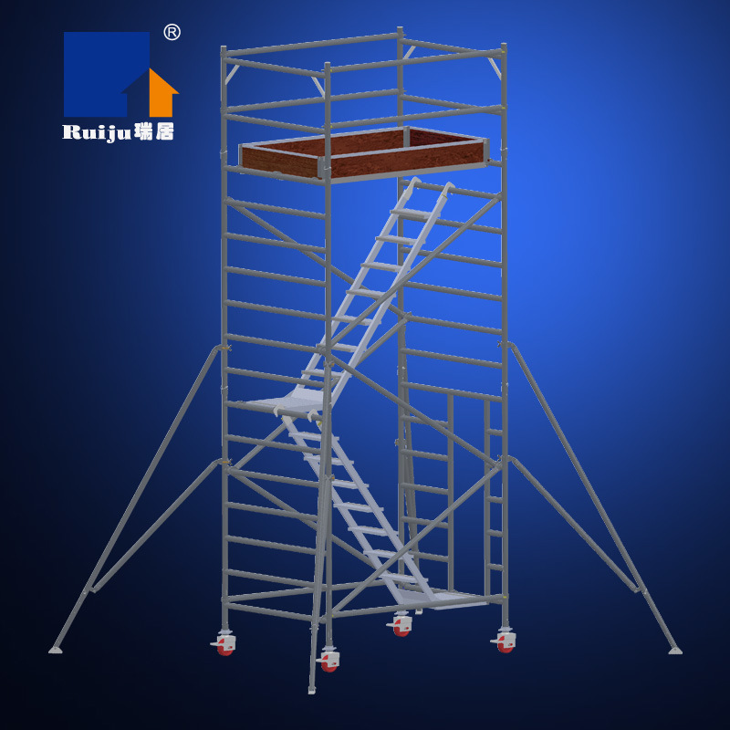 Double Width Scaffolding with Stair Case