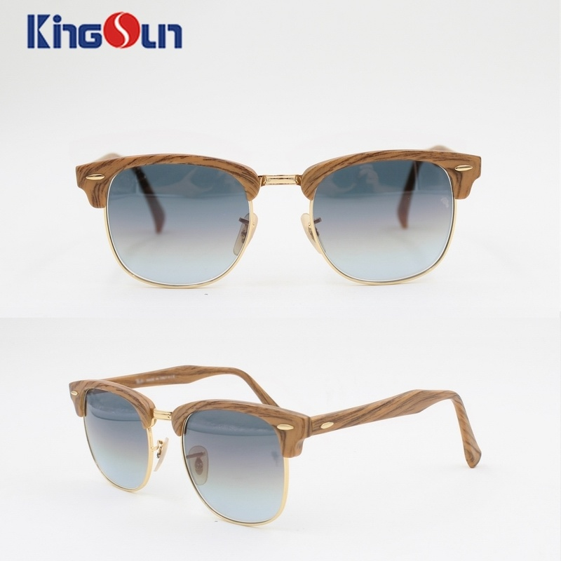 Professional Hand Made Sunglasses with Glass Gradural Lens (KS1146)