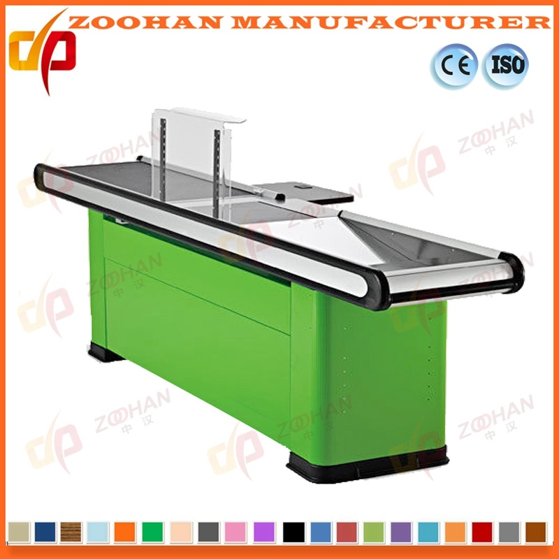 Supermarket Store Electric Cash Checkout Counter with Conveyor Belt (ZHC15)