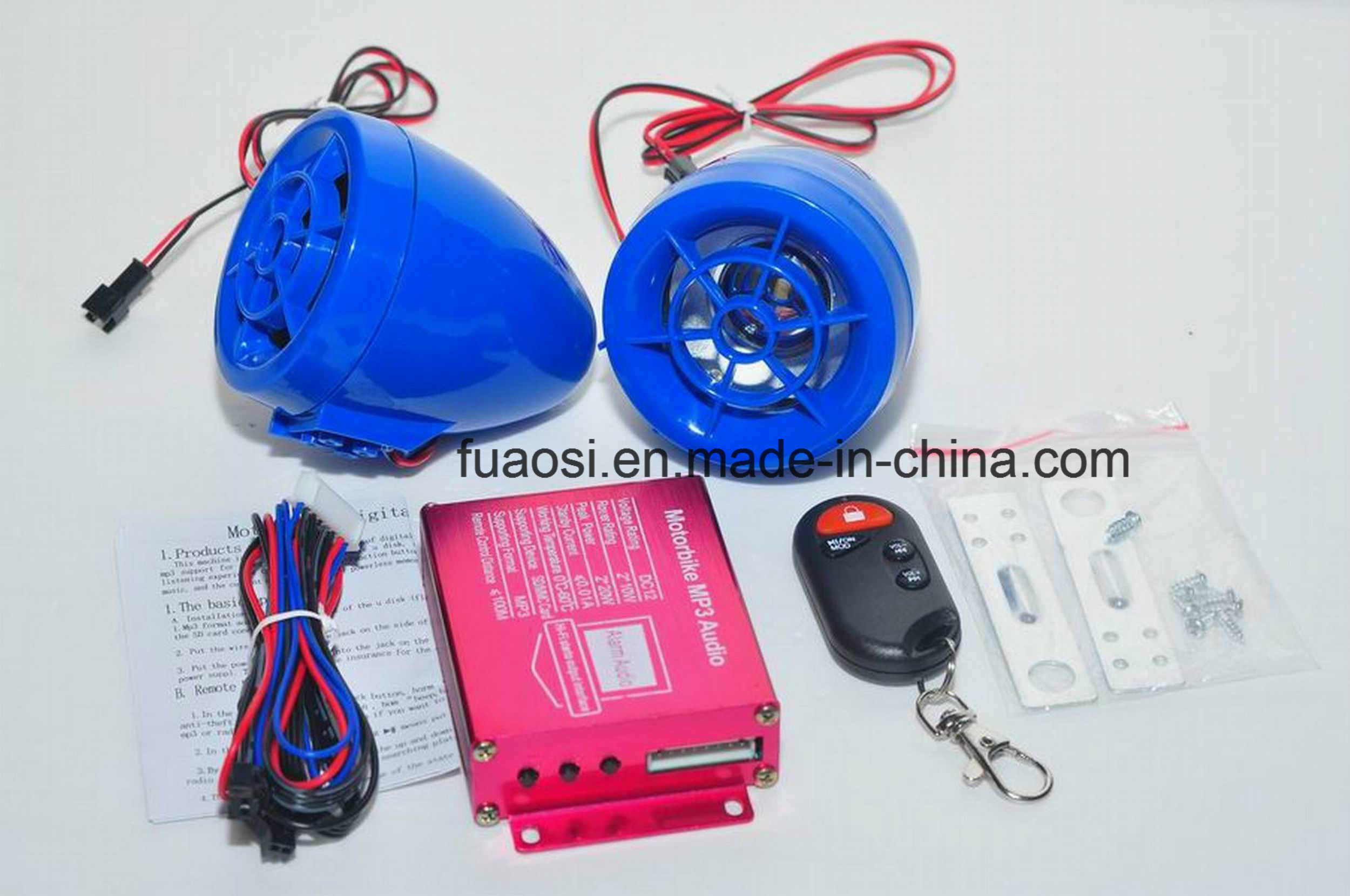 Wireless Motorcycle Alarm System MP3 Audio