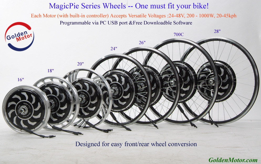 Built in Controller! Magic Pie 24V, 36V, 48V 250-1000W / Electric Bike Conversion Accessories