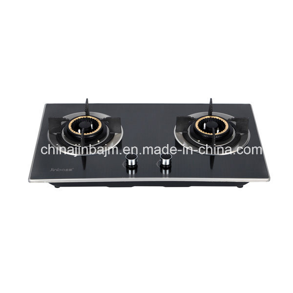 2 Burners 730 Color-Coated Stainless Steel Built-in Hob/Gas Hob