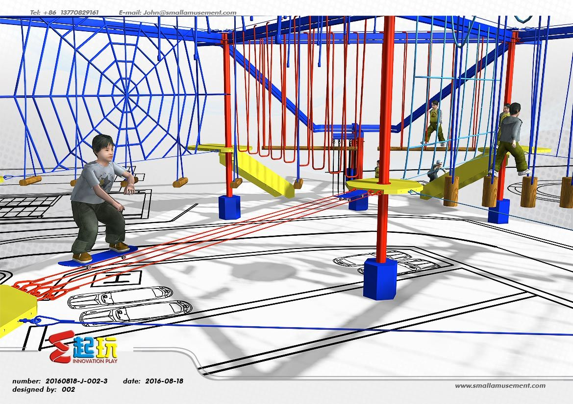 Innovative Climbing Frame of Indoor Playground with Adventure Activities