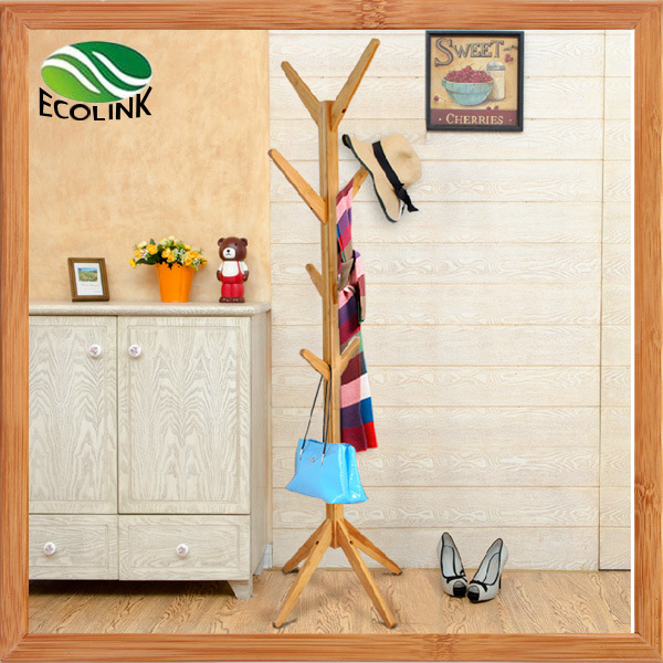 Bamboo Hat and Coat Hanger/ Clothes Rack