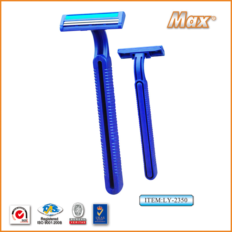 Plastic Platinum Coated Twin Stainless Steel Blade Disposable Razor (LY-2350)