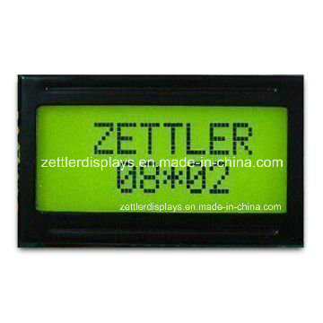 8X2 Character LCD Display Module, Y/G Backlight, Stn Type LCD (ACM0802C-FL-YBW)