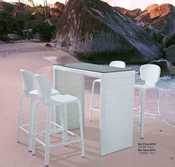 Bar Stools Chairs Kitchen Bar 4 PCS Chairs and Table