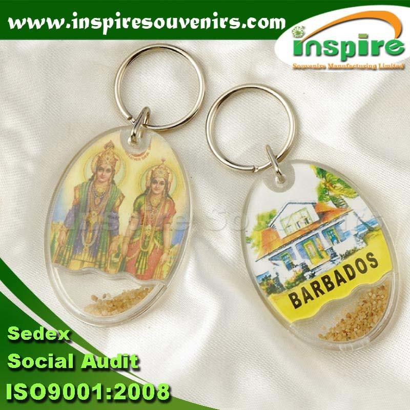 Customized Dolphin Acrylic Key Chain for Souvenirs