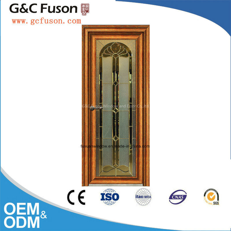 New Design Aluminum Double Tempered Glass Casement Door